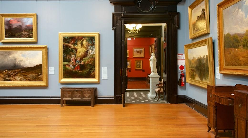 Ballarat Fine Art Gallery featuring interior views