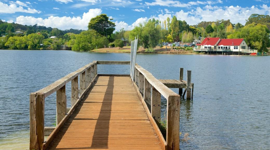 Daylesford showing a lake or waterhole