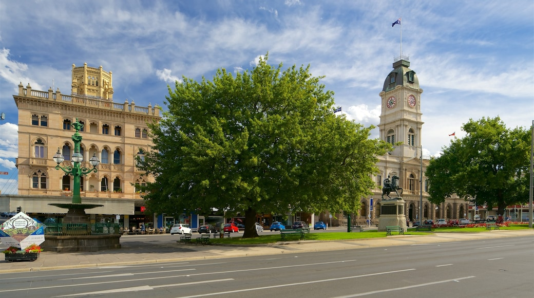 Ballarat which includes an administrative building, a fountain and street scenes