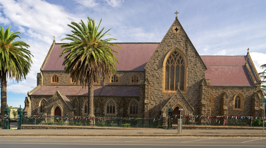 Ballarat showing a church or cathedral and heritage architecture