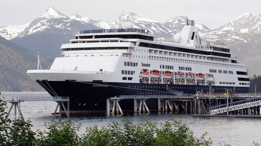 Haines featuring a marina, a bay or harbour and cruising