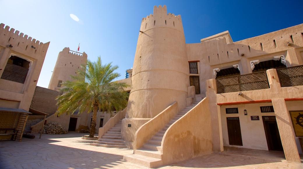 Ajman caratteristiche di vista del deserto e architettura d\'epoca
