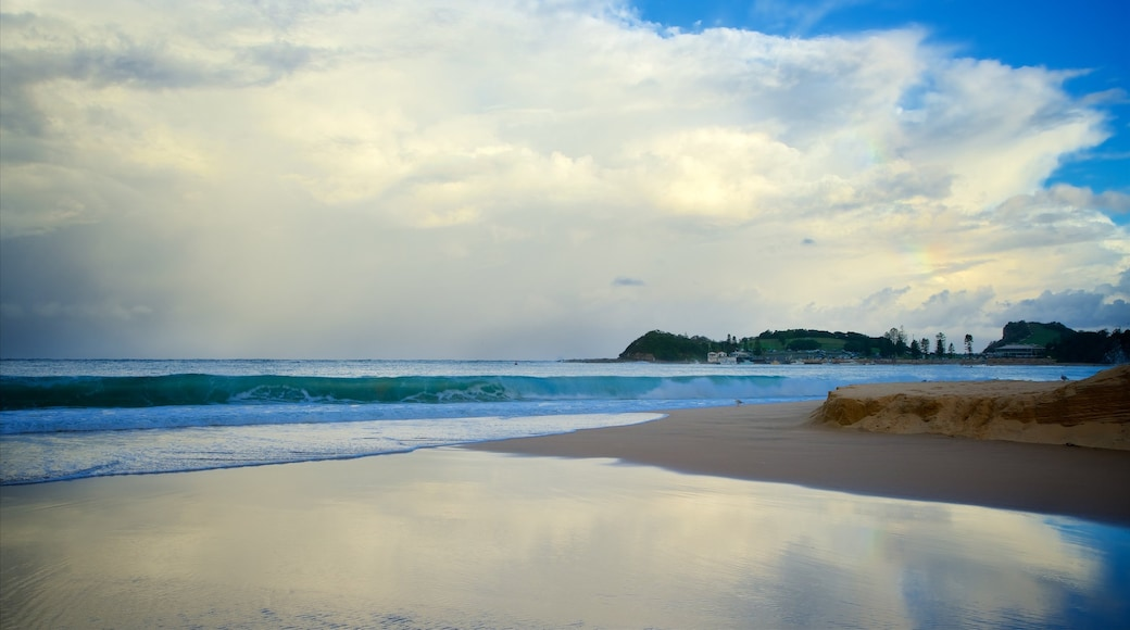 Terrigal featuring surf, a bay or harbour and a sandy beach