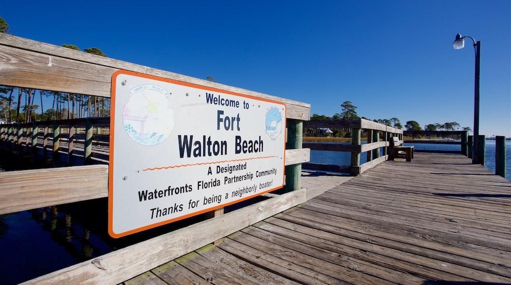 Fort Walton Beach - Destin showing signage
