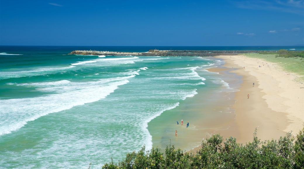 Ballina mostrando una playa de arena