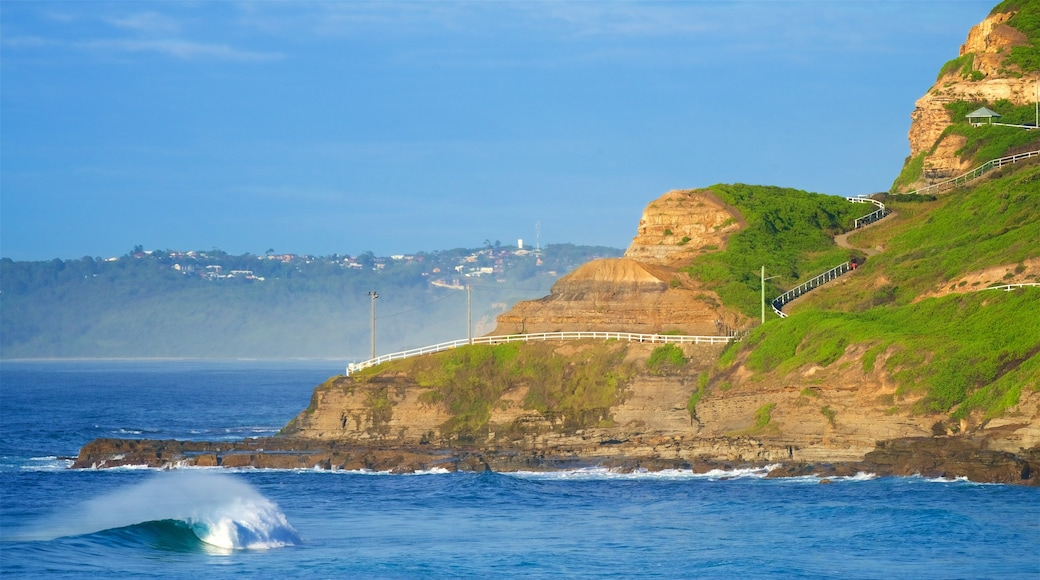 Newcastle which includes a sandy beach