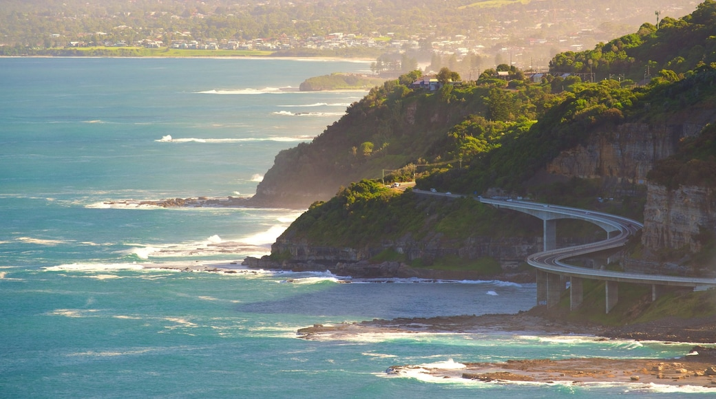 Wollongong featuring rugged coastline