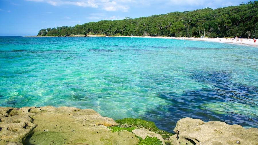 Parque Nacional de Booderee mostrando una playa