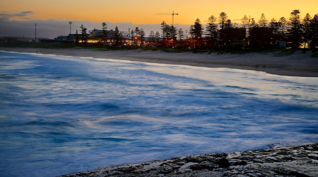 Wollongong South Beach featuring a sunset and snow