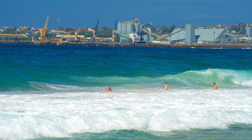 Wollongong South Beach featuring general coastal views, swimming and a sandy beach