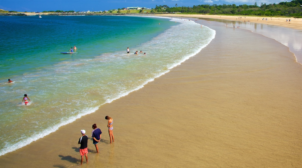 Coffs Harbour which includes a beach, general coastal views and swimming