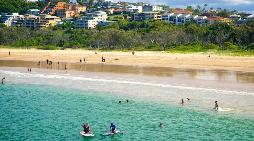 Coffs Harbour featuring a beach, swimming and general coastal views