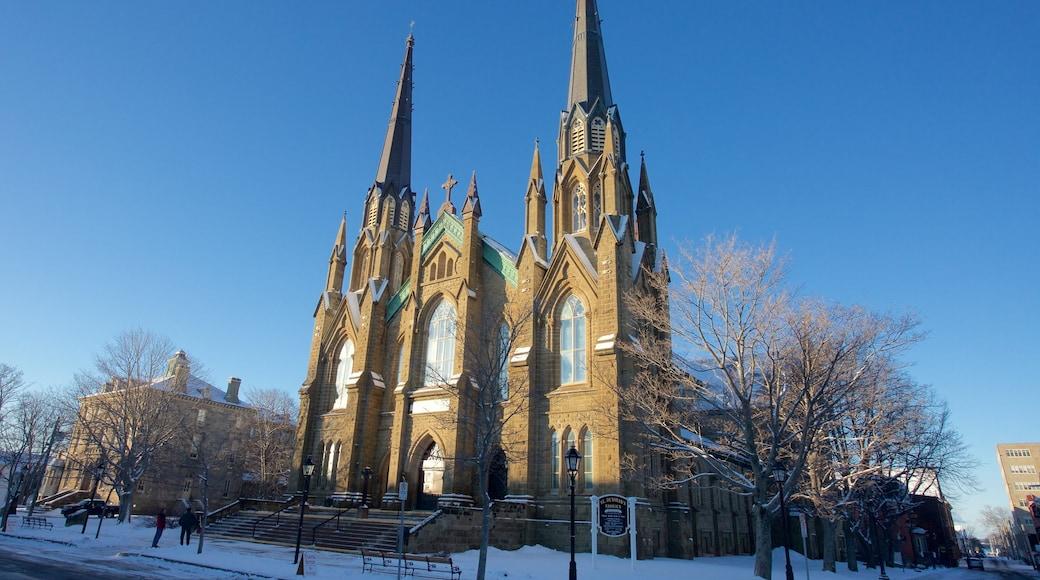 Basilique de St. Dunstan mettant en vedette neige et église ou cathédrale