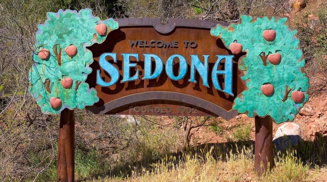 Sedona featuring signage