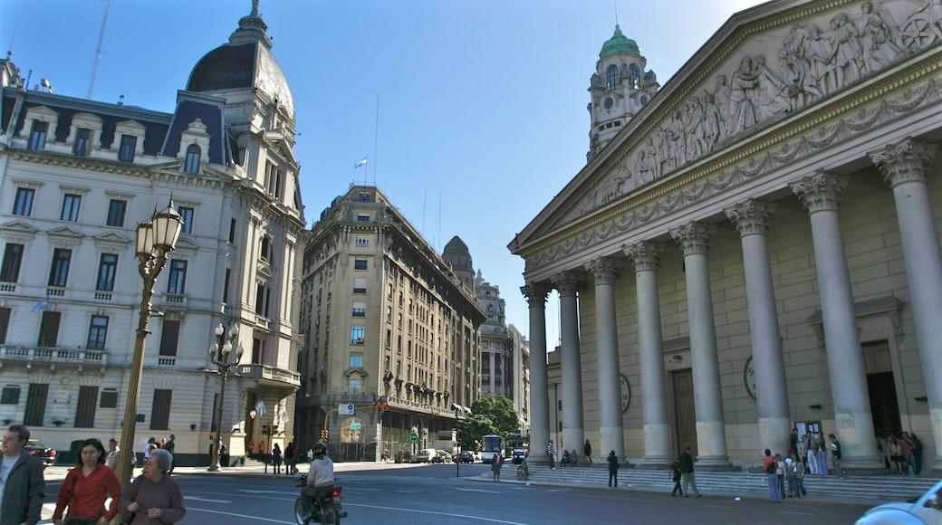Buenos Aires centro ofreciendo arquitectura patrimonial y imágenes de calles