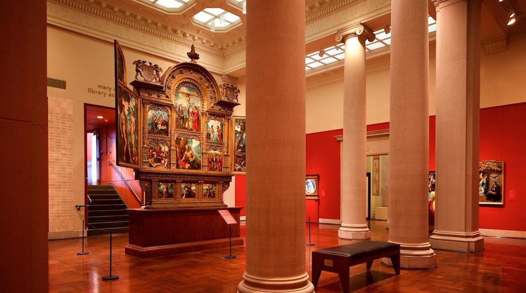 신시내티 미술관 을 특징 종교적 요소, 실내 전경 과 문화유산 요소
