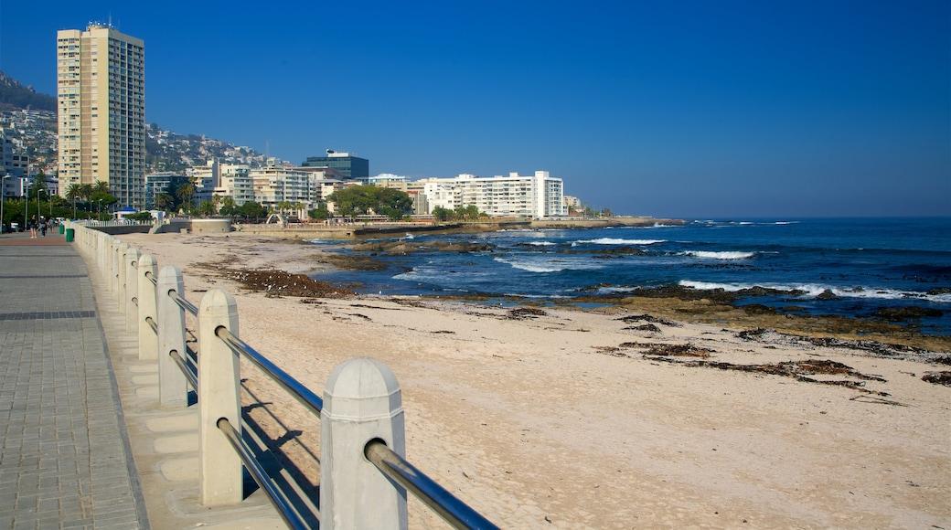 Milton Beach featuring a beach and a city