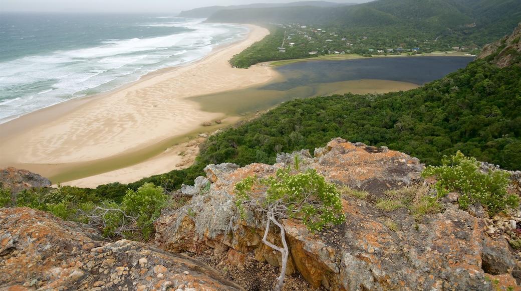 Strand von Nature\'s Valley welches beinhaltet allgemeine Küstenansicht, Landschaften und Sandstrand