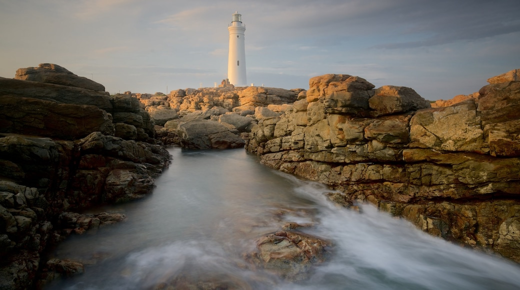 Seal Point Lighthouse featuring a lighthouse, general coastal views and rocky coastline