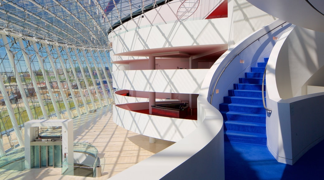 Kauffman Center for the Performing Arts featuring interior views and modern architecture