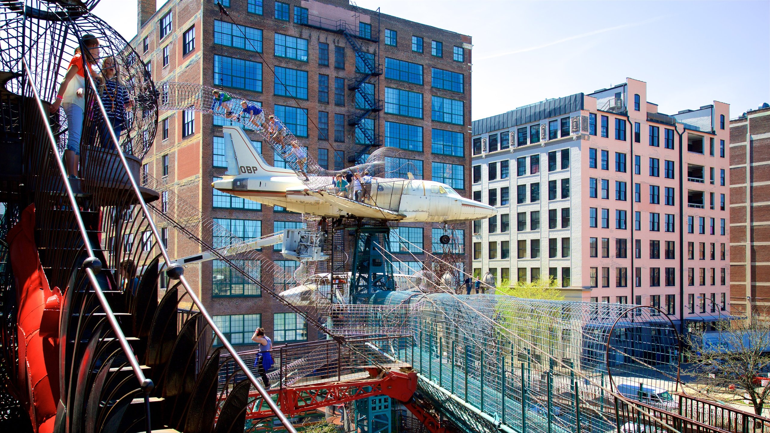 This quirky children's museum invites visitors to crawl through whales, climb into tree houses and whiz down three-story slides.