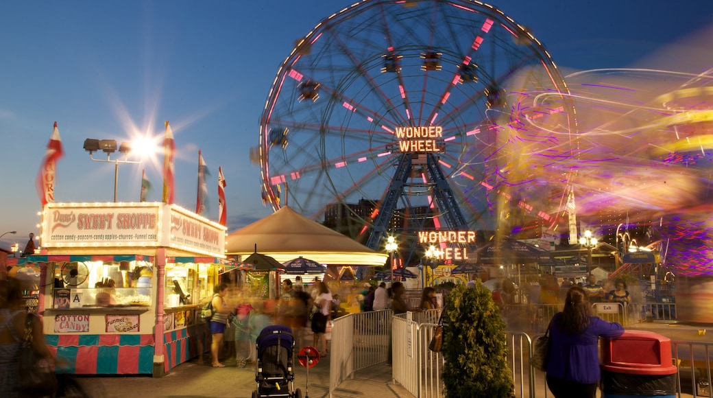 Brooklyn showing rides and night scenes