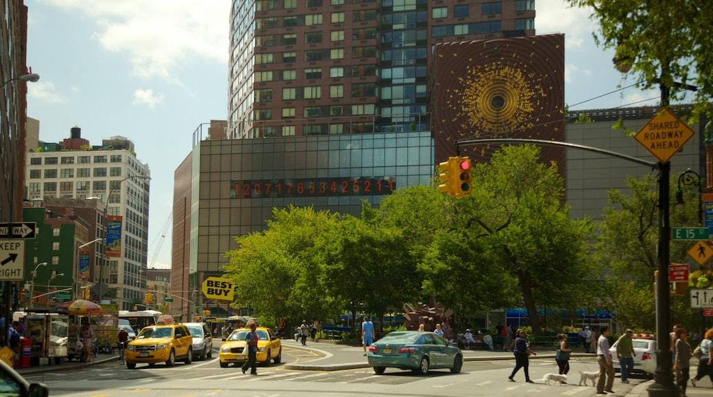 Union Square mostrando grattacielo e città