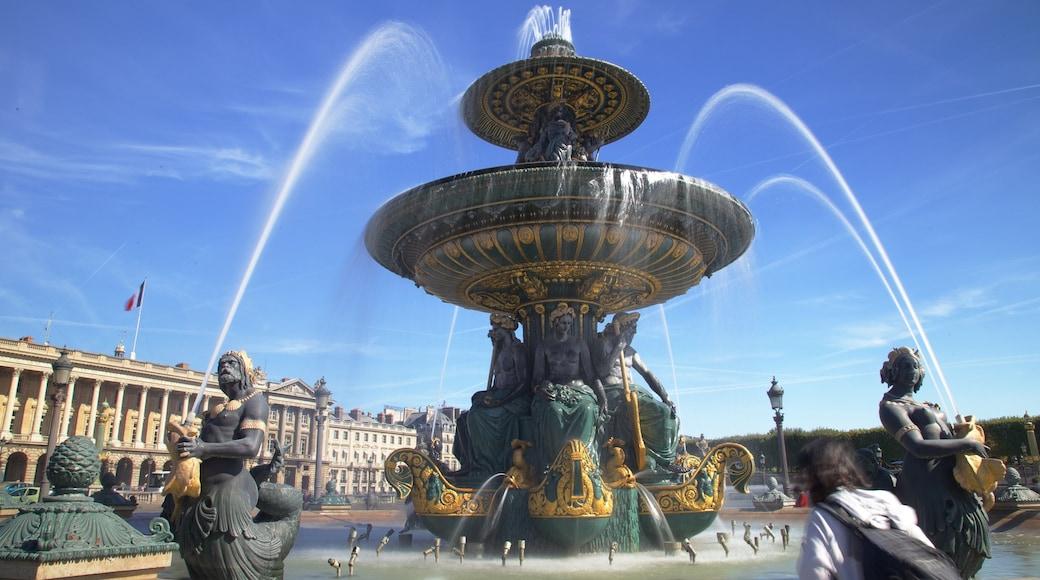 香榭麗舍大道 呈现出 噴泉, 廣場 和 山水美景