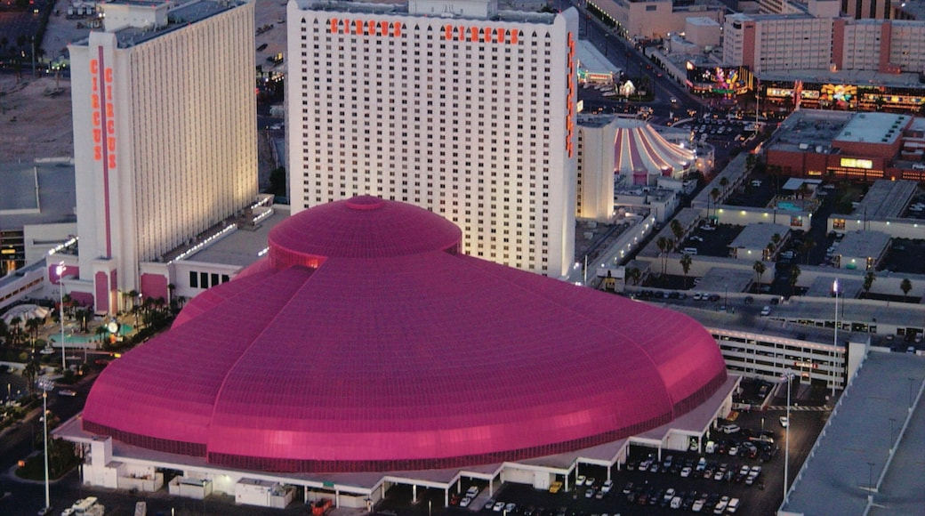 Adventuredome Theme Park showing central business district and a city