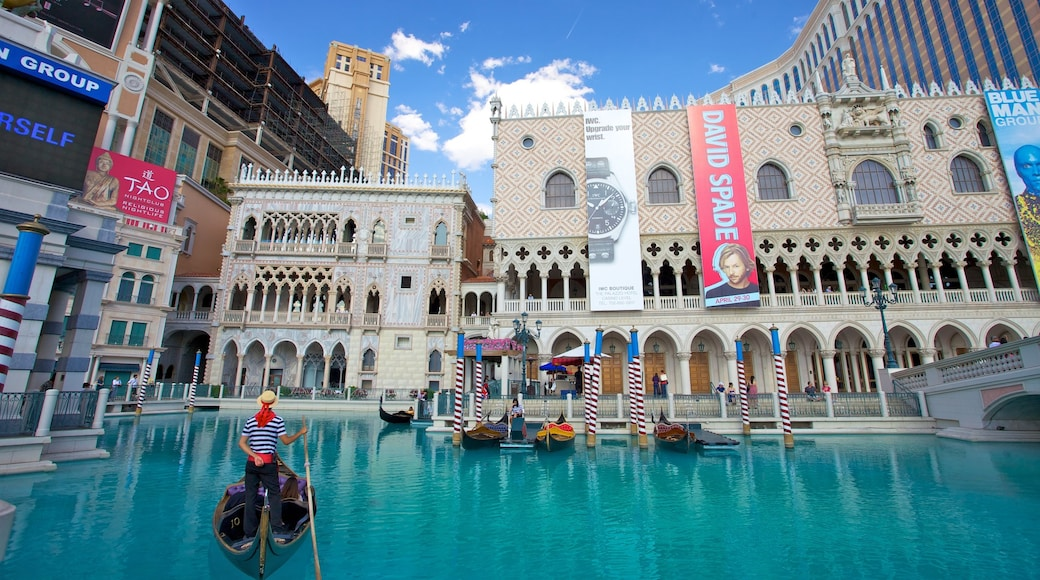 The Strip featuring a hotel, kayaking or canoeing and a pool