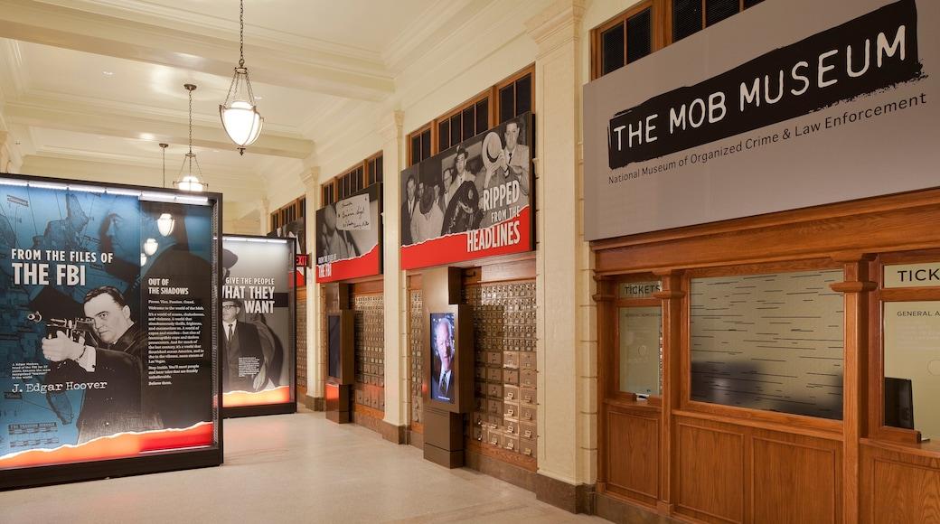 Mob Museum toont interieur