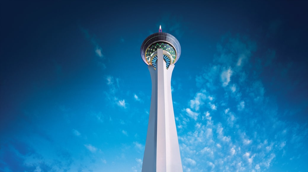 Stratosphere Tower showing modern architecture and a skyscraper