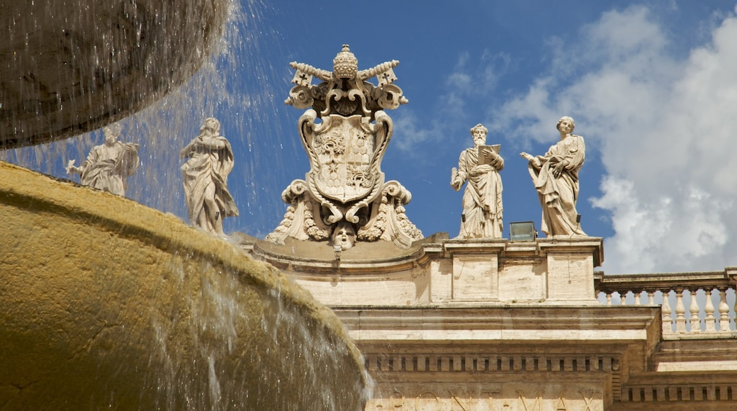 Piazza San Pietro featuring a city, a fountain and a statue or sculpture