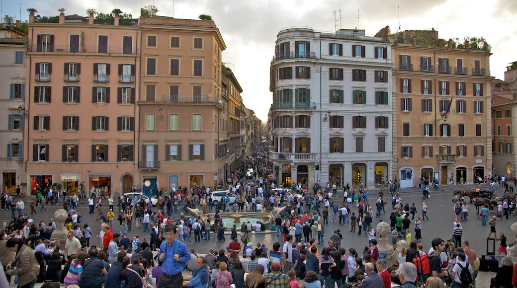 Spanish Steps which includes skyline, a square or plaza and heritage architecture