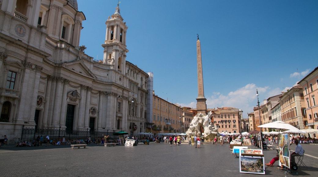 Piazza Navona mostrando piazza, città e architettura d\'epoca