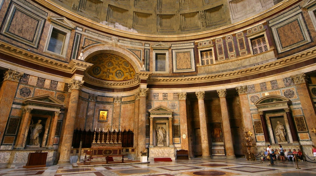 Pantheon featuring a temple or place of worship, interior views and religious elements
