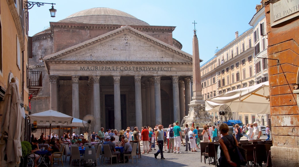 Pantheon featuring a square or plaza, a city and heritage architecture