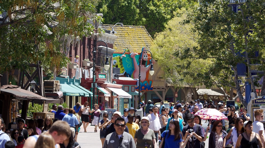 Universal Studios as well as a large group of people
