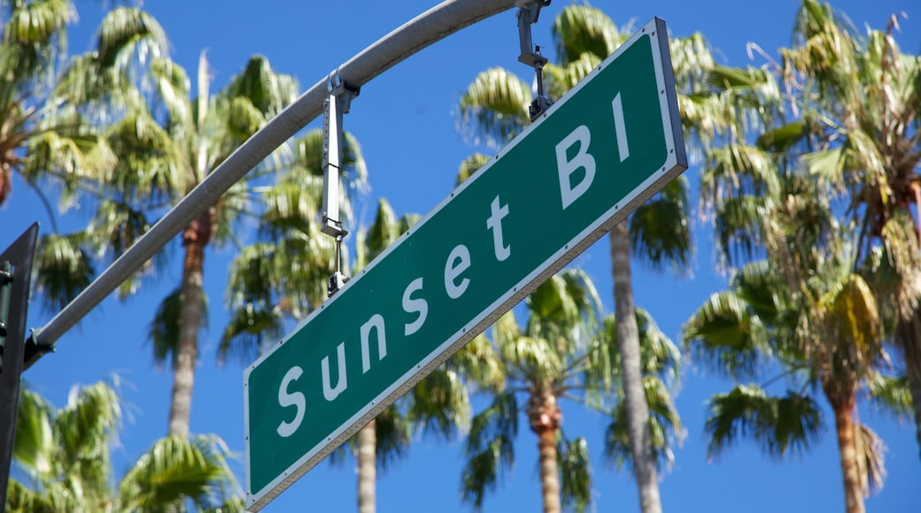 Beverly Hills featuring signage