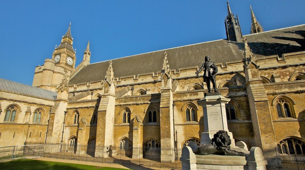 Westminster Abbey bevat religieuze aspecten, een kerk of kathedraal en historische architectuur