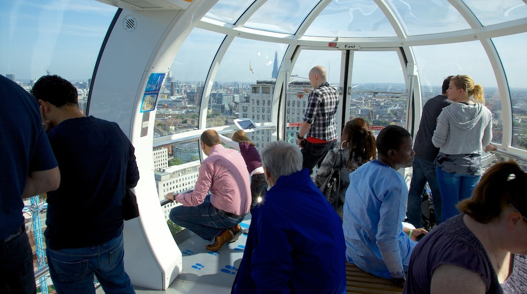 London Eye featuring views, modern architecture and interior views