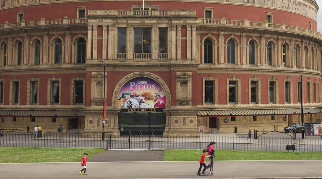 Royal Albert Hall which includes heritage architecture and a city