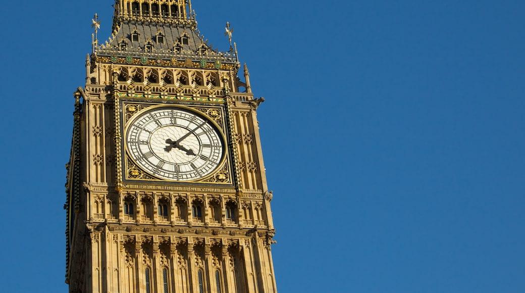 Big Ben que incluye un monumento, horizonte urbano y arquitectura patrimonial