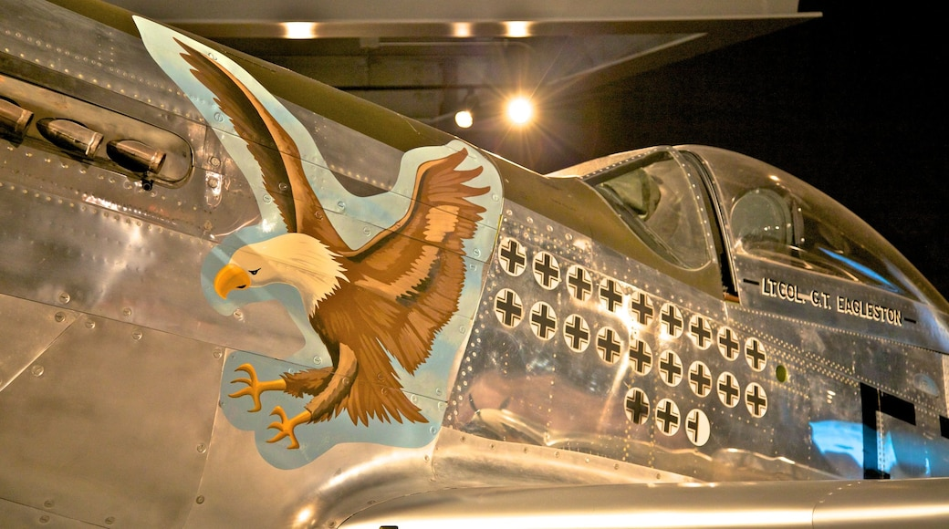 Museum of Flight showing interior views and aircraft
