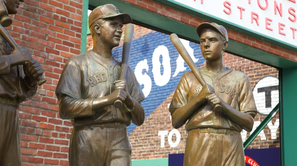 Fenway Park which includes outdoor art and a statue or sculpture
