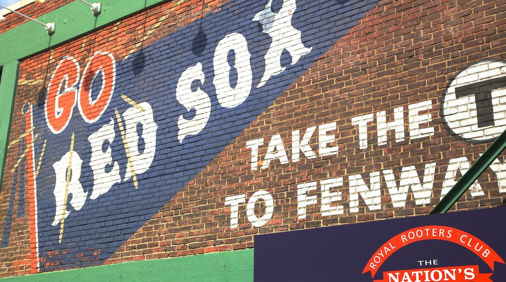 Fenway Park which includes signage