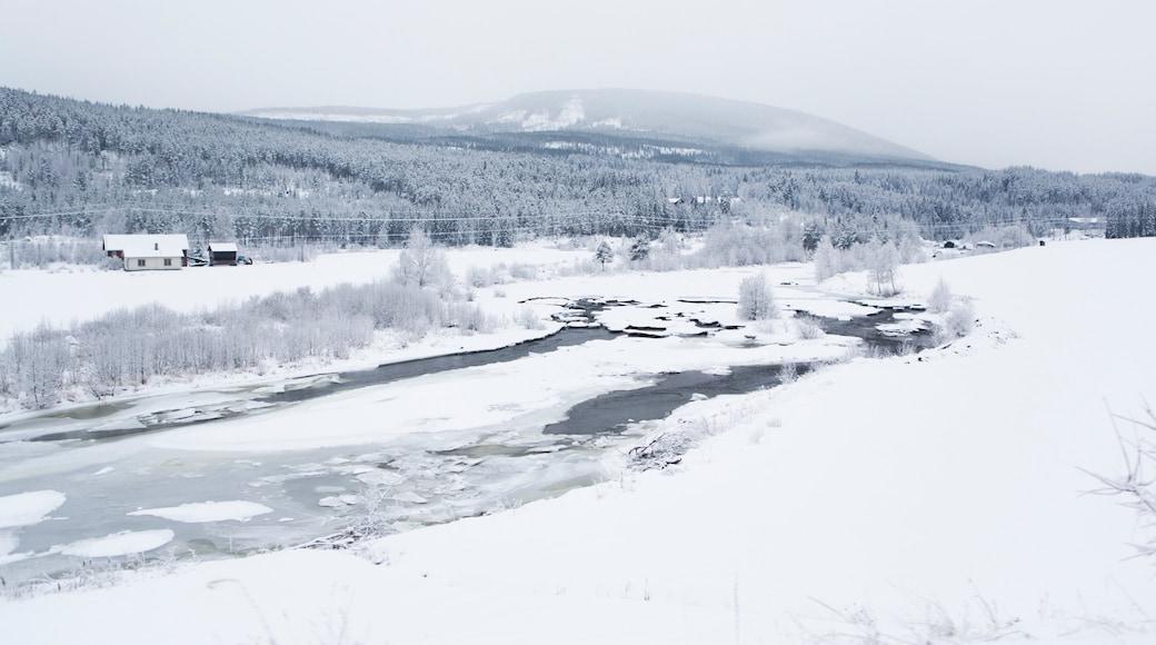 Rjukan mit einem Schnee und Landschaften