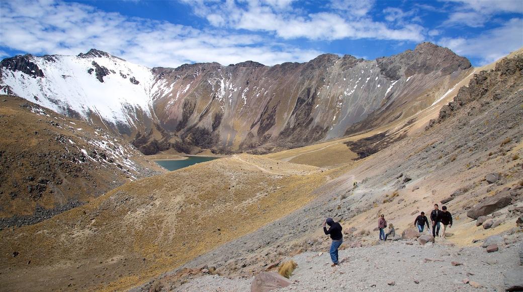 Parque Nacional Nevado de Toluca mostrando nieve, escenas tranquilas y montañas