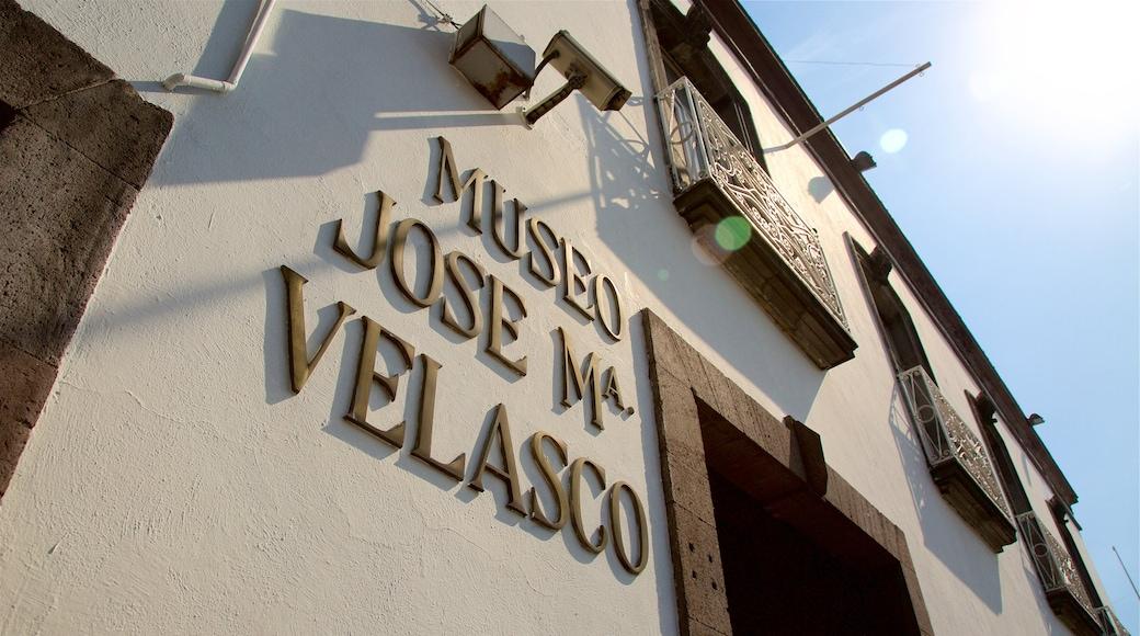 Jose Maria Velasco Museum ofreciendo señalización