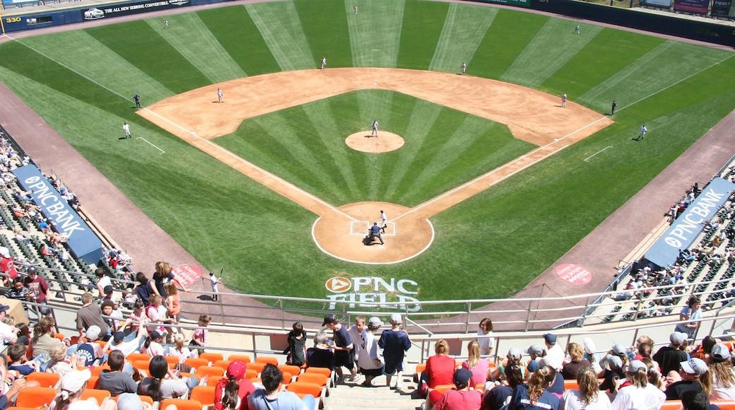 Scranton mostrando um evento desportivo assim como um grande grupo de pessoas